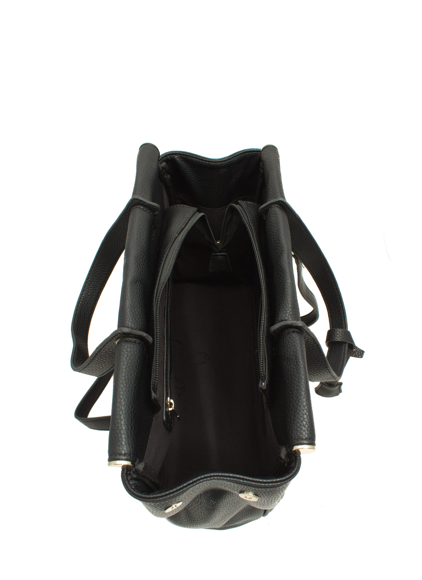 Under Lock N Key Structured Bag BLACK