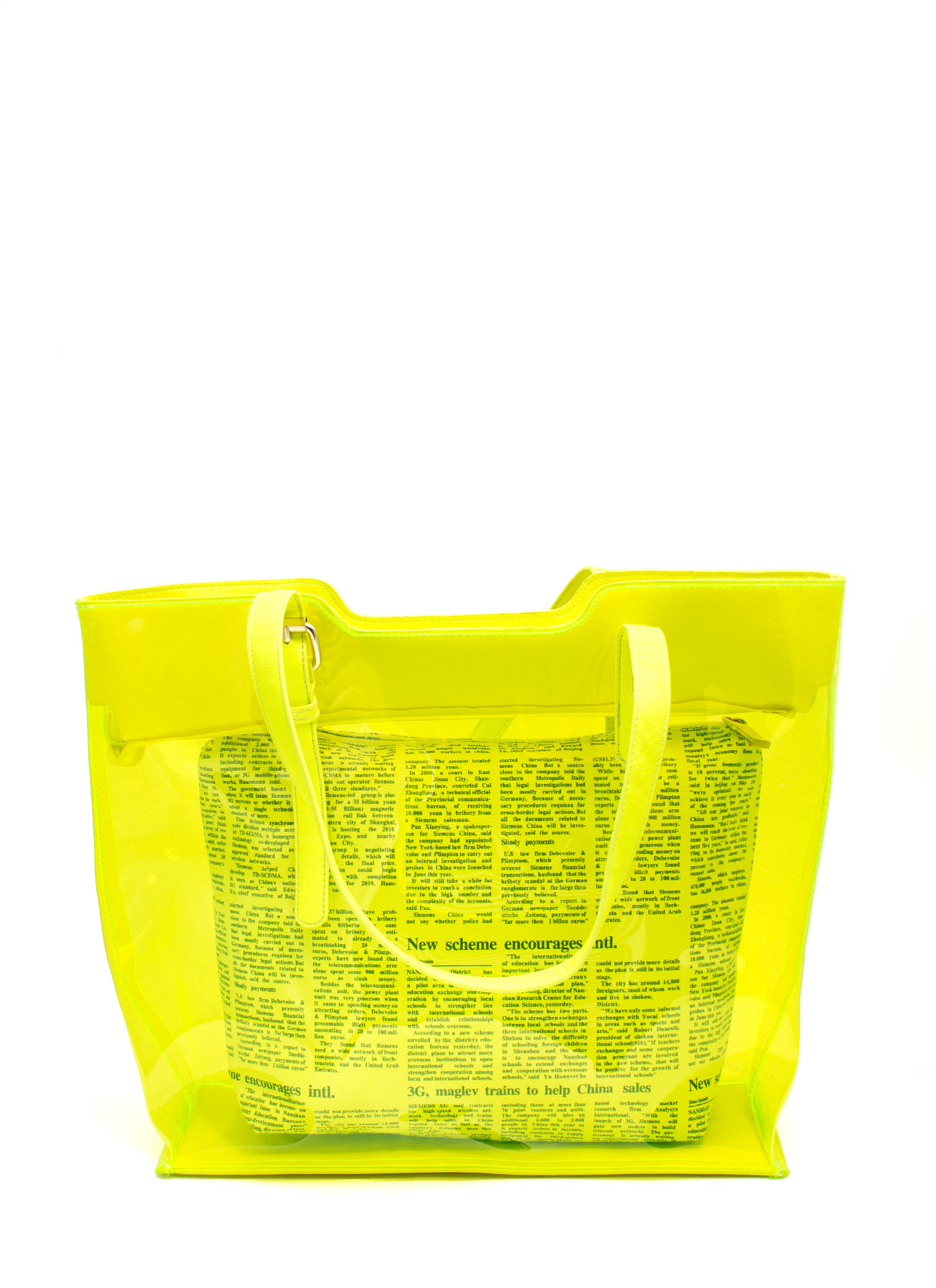 2-In-1 PVC Tote NEONYELLOW