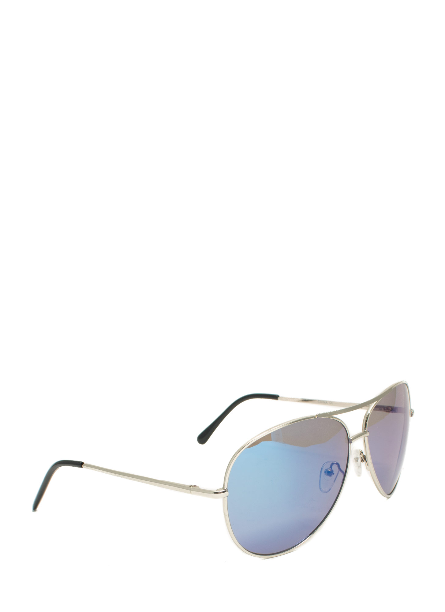 Holographic Projection Aviator Sunglasses BLUESILVER