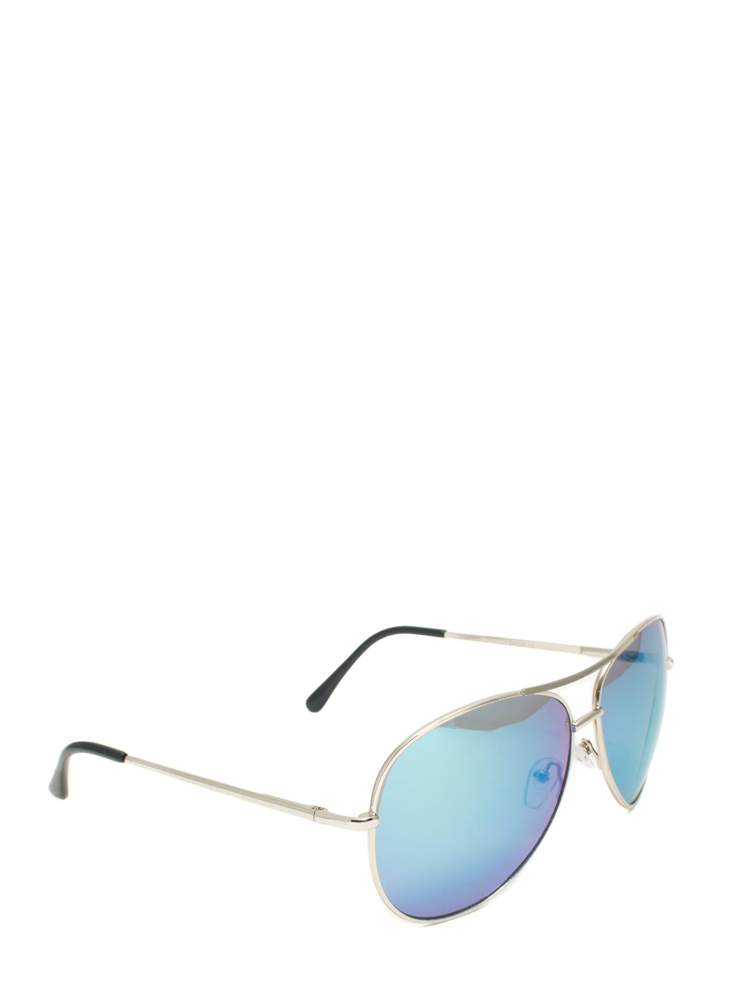 Holographic Projection Aviator Sunglasses GREENSILVER