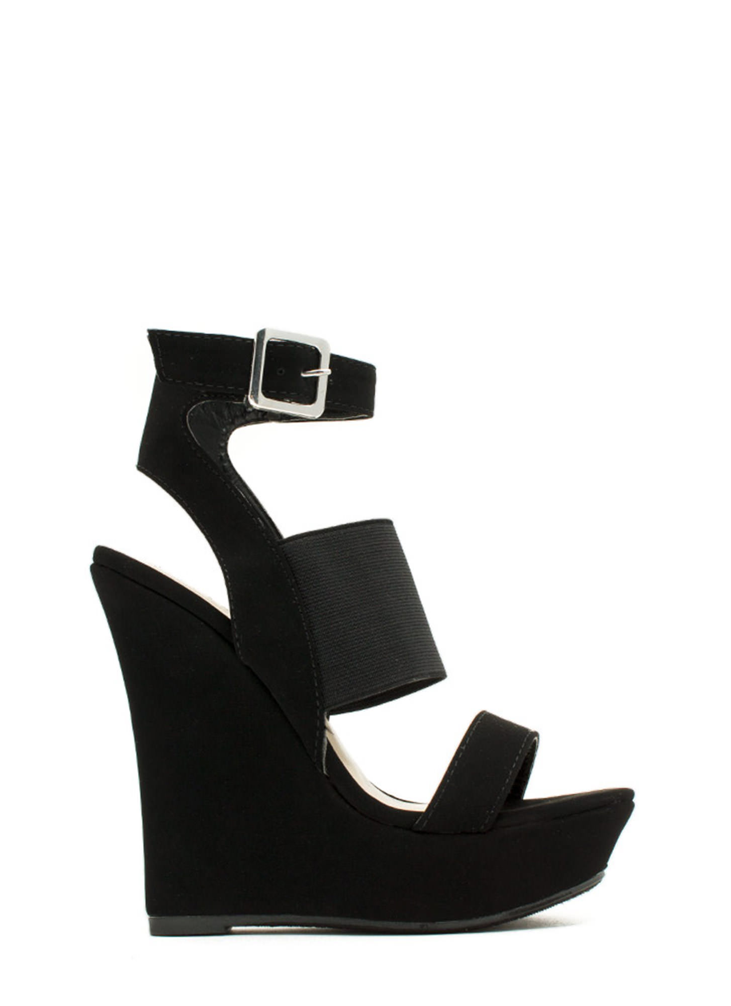 Pencil Me In Platform Wedges BLACK