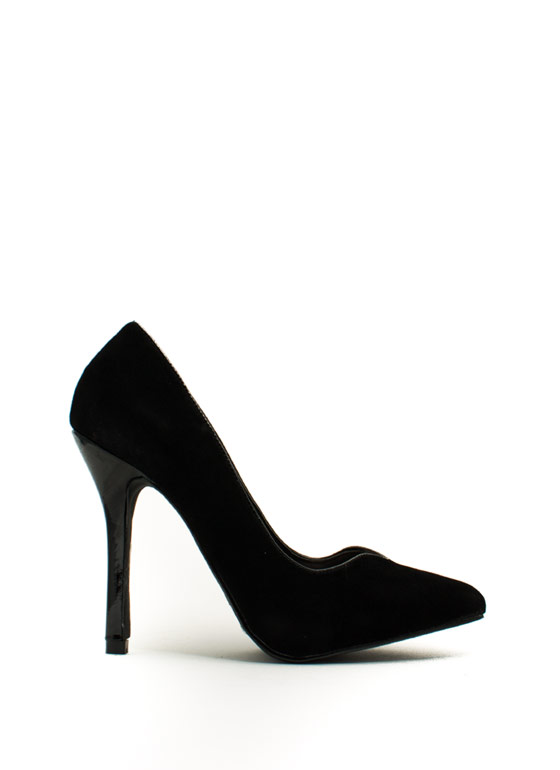 Be A Sweetheart Topline Heels BLACK