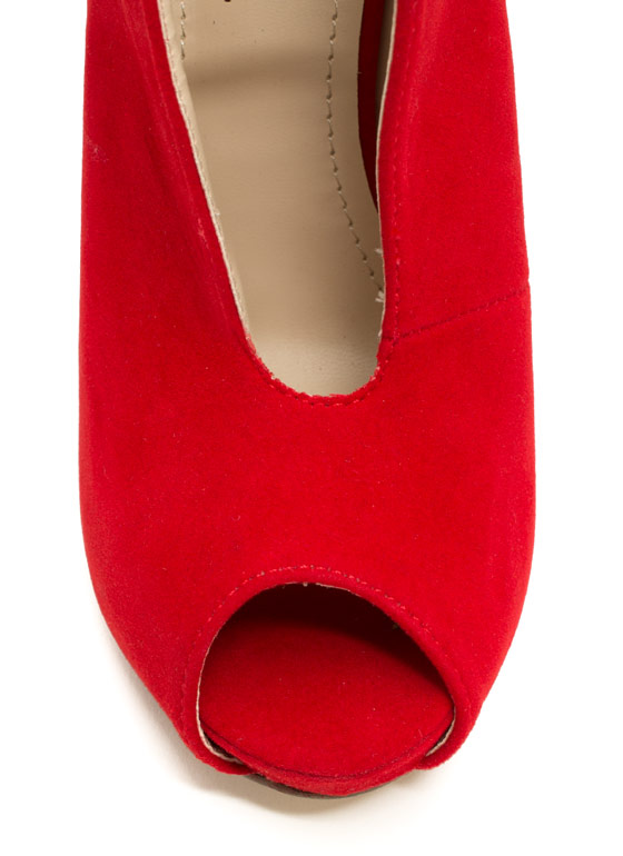Take The Plunging Topline Booties RED