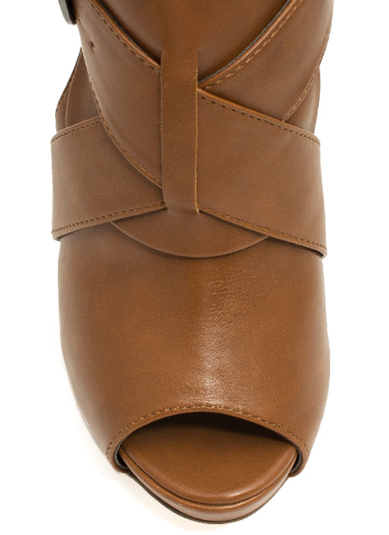 X Appeal Cut-Out Heels CHESTNUT
