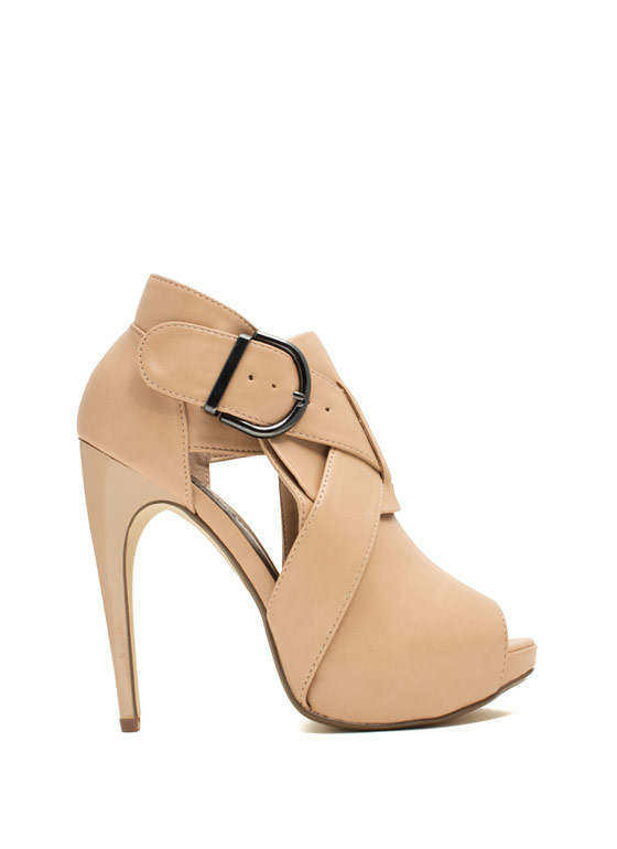 X Appeal Cut-Out Heels NUDE