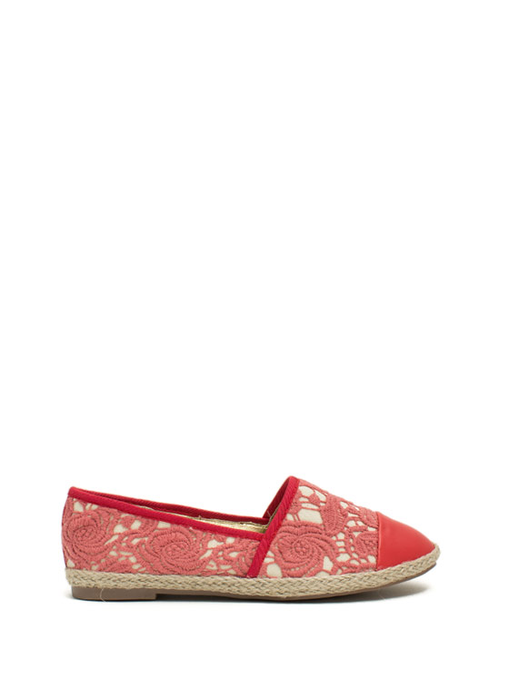 Embroidered Espadrille Flats CAYENNE