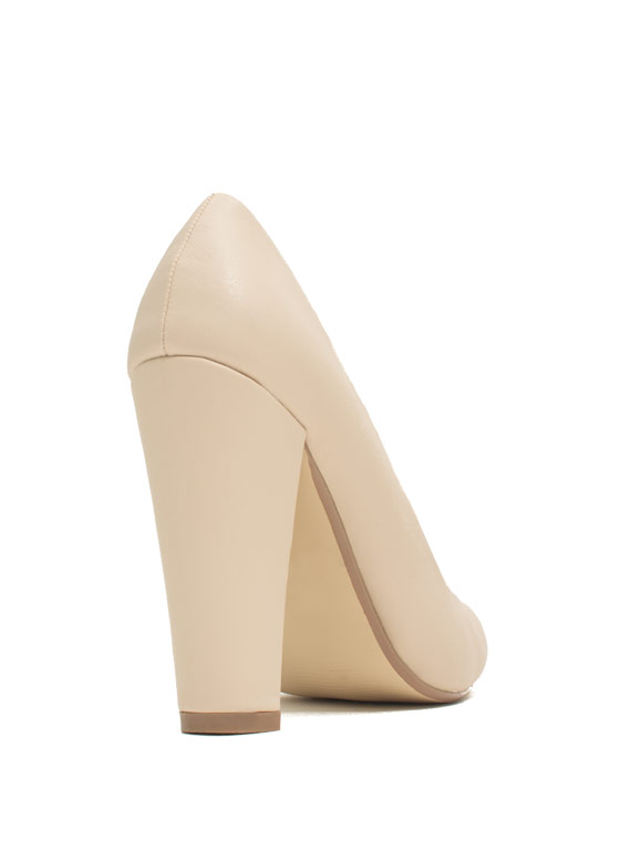 Classic Architectural Pumps NUDE