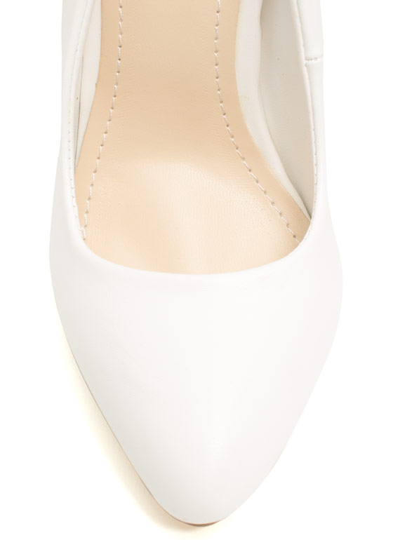 Classic Architectural Pumps WHITE