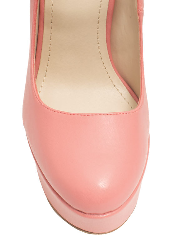 Go Mary Jane Faux Leather Platforms MELON