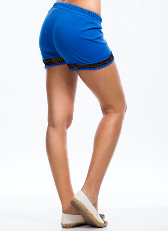 Sporting Around Mesh Inset Shorts ROYAL