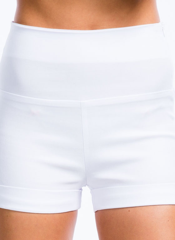 Off The Cuff High-Waisted Shorts WHITE