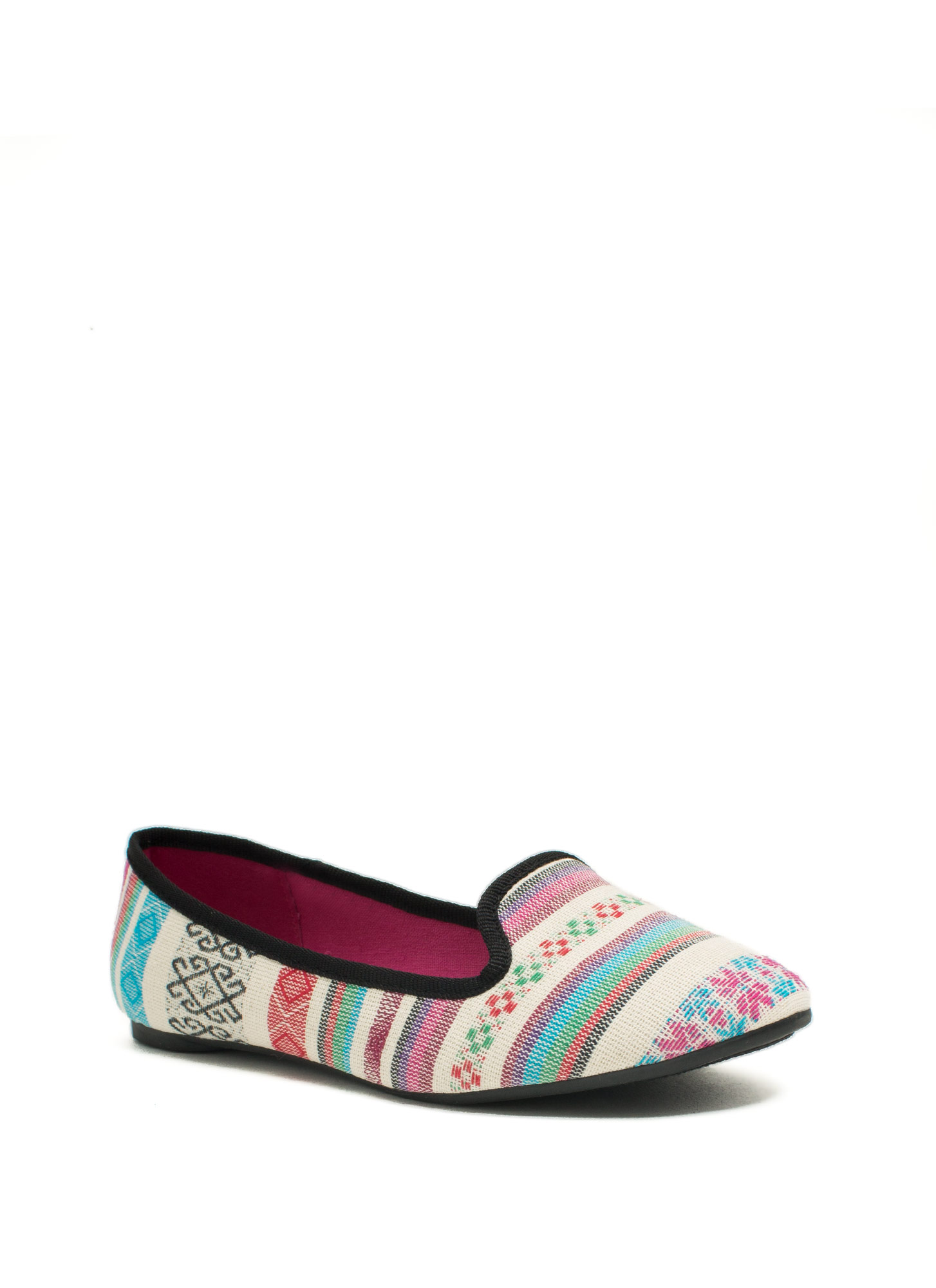 Be A Print-cess Smoking Flats BEIGEMULTI