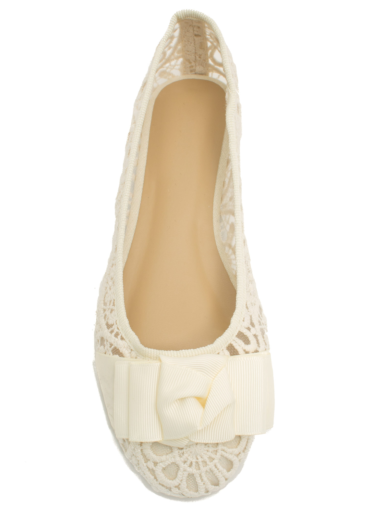 Bow And Tell Ballet Flats BEIGE