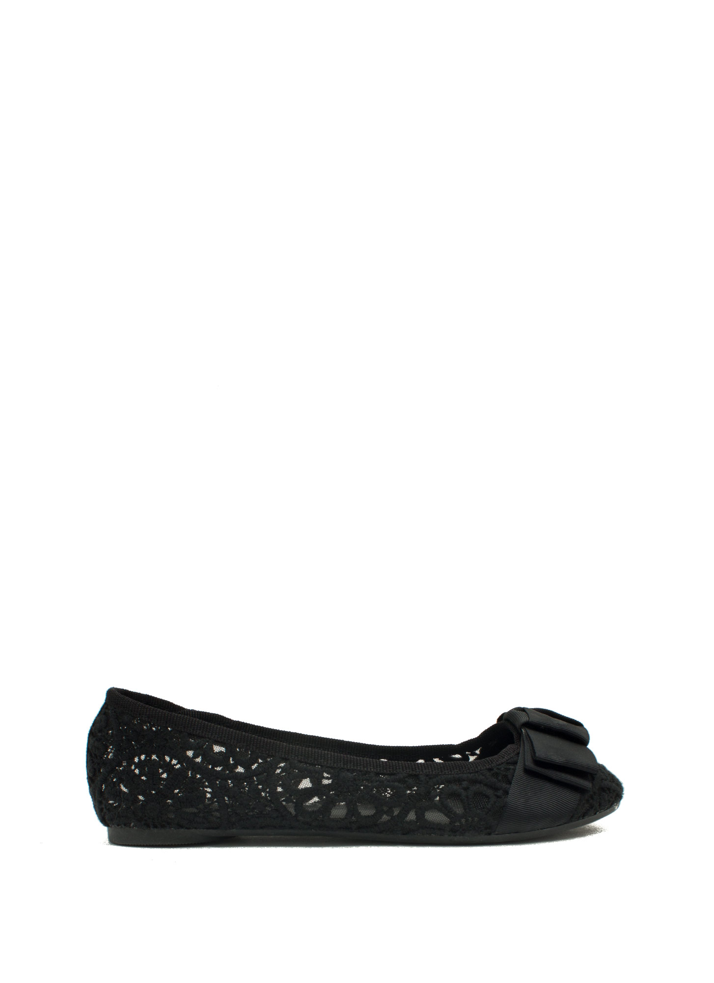 Bow And Tell Ballet Flats BLACK