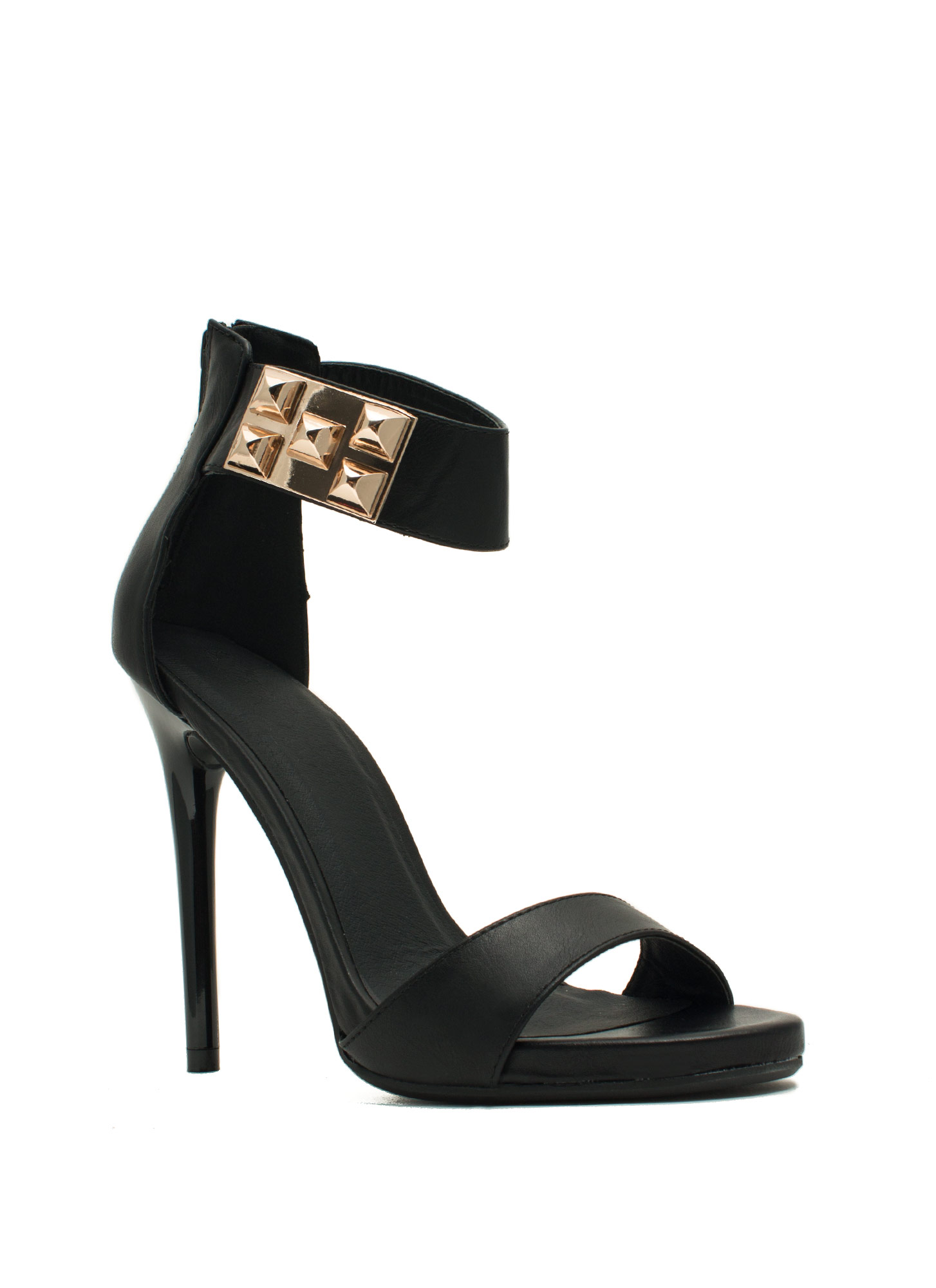 At The Rock Show Studded Heels BLACK