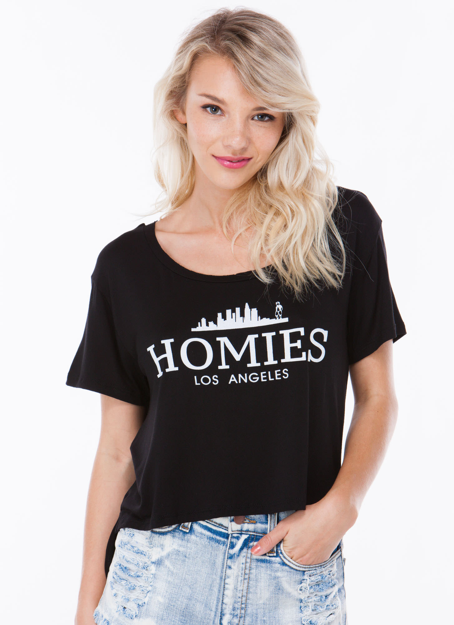 Shredded Homies High-Low Tee BLACK