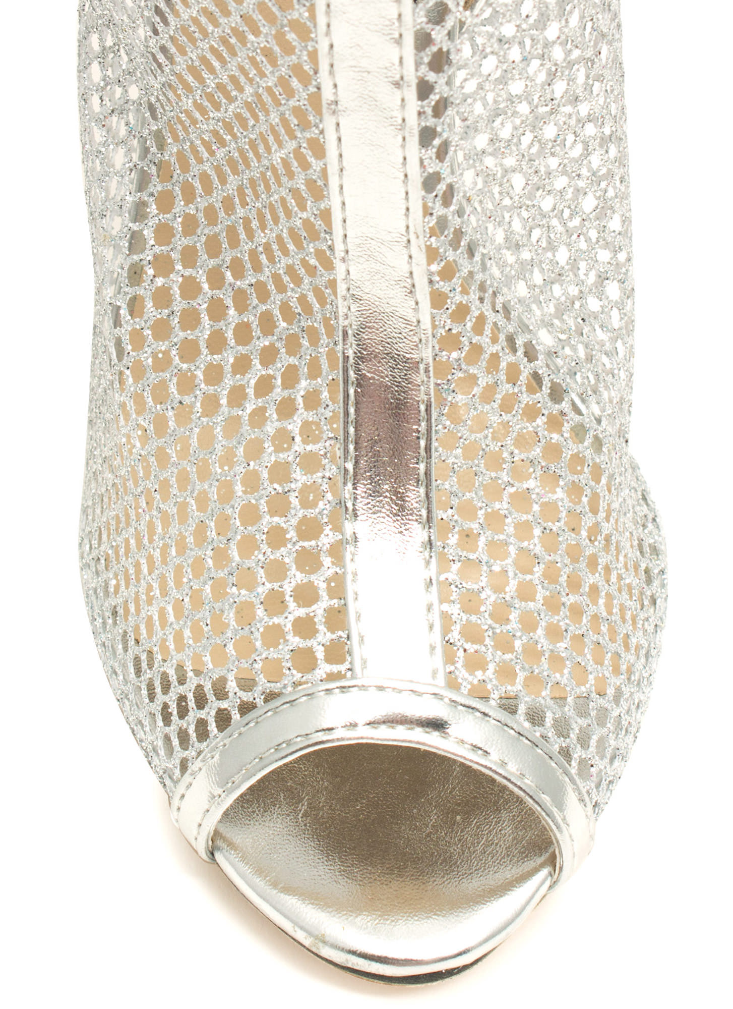Nothing But Net Mesh Booties SILVER