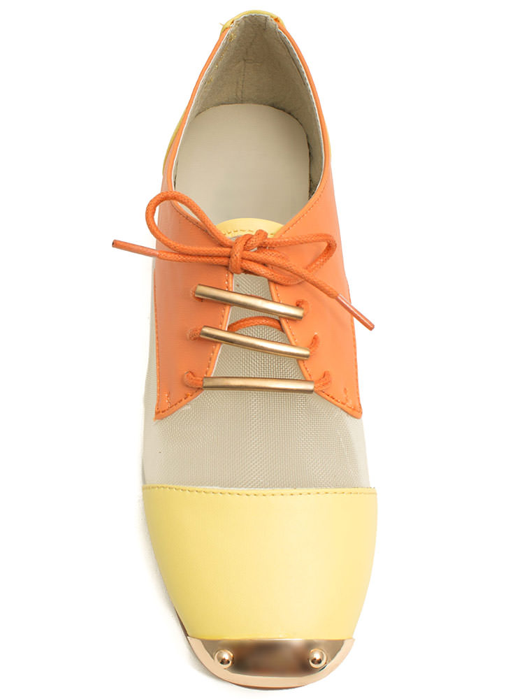 Quit Meshing Metallic Accent Oxfords MLNLTYLLW