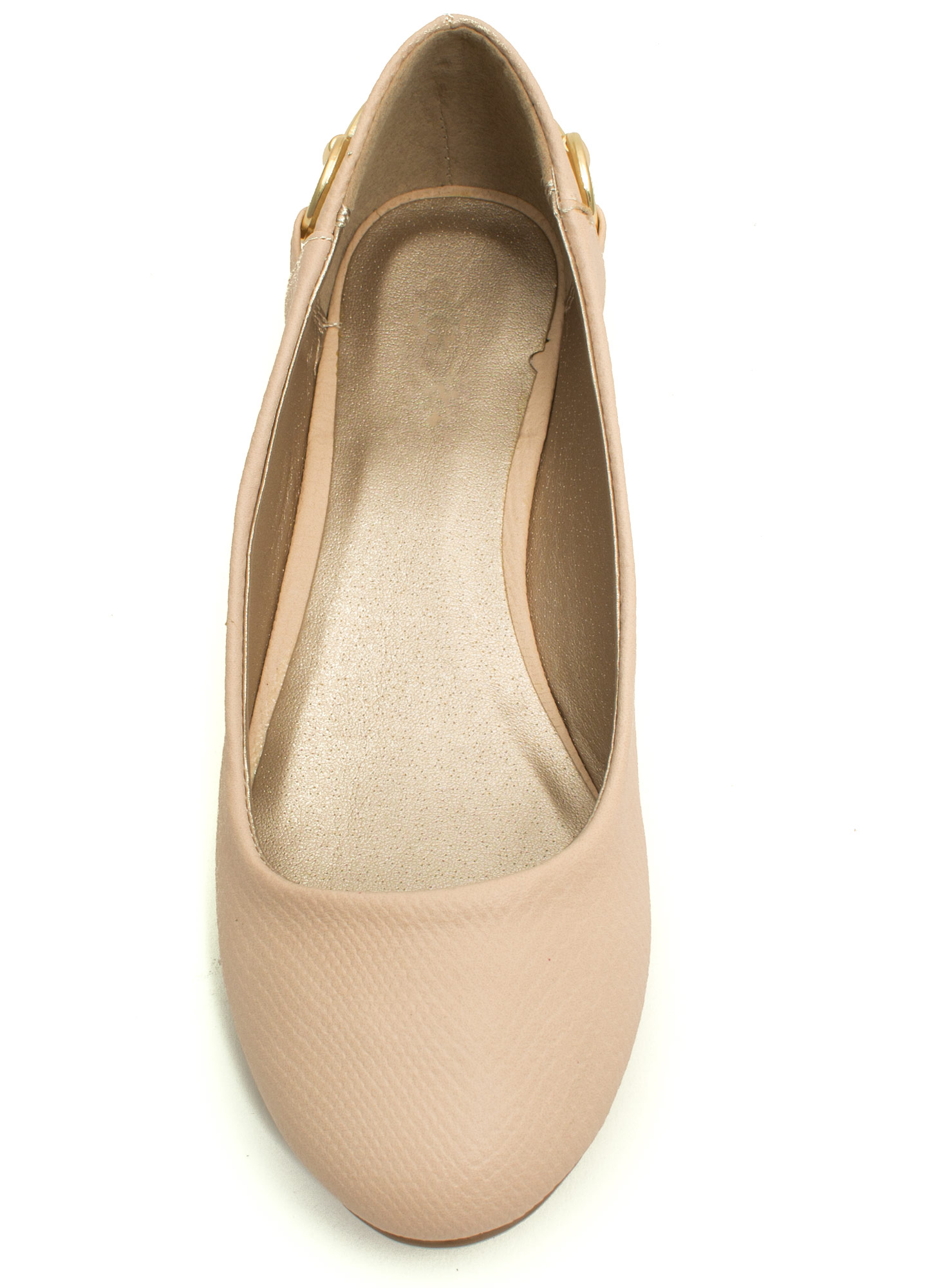 I'm Hooked Snake Scale Ballet Flats NUDE