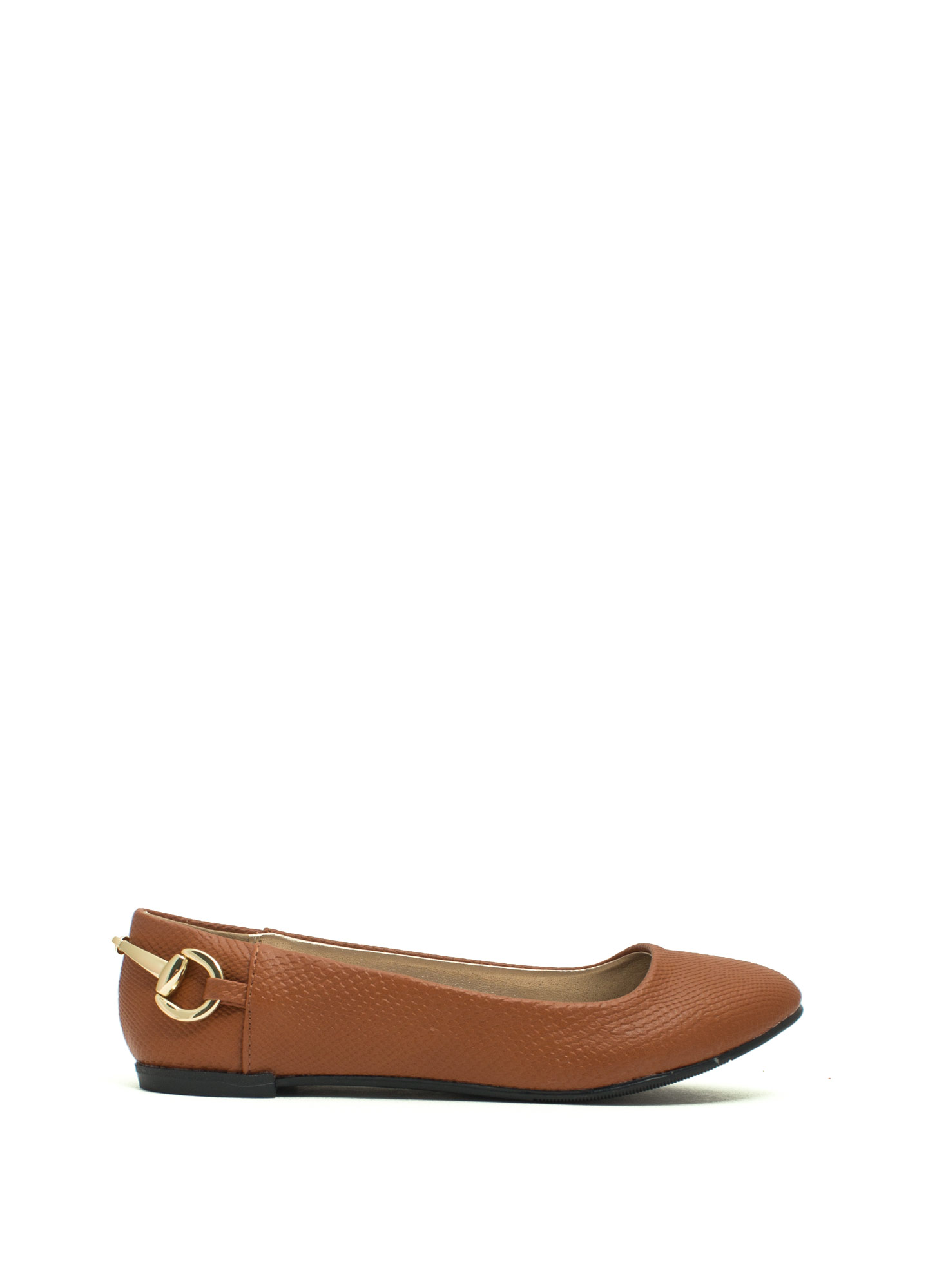 I'm Hooked Snake Scale Ballet Flats RUST