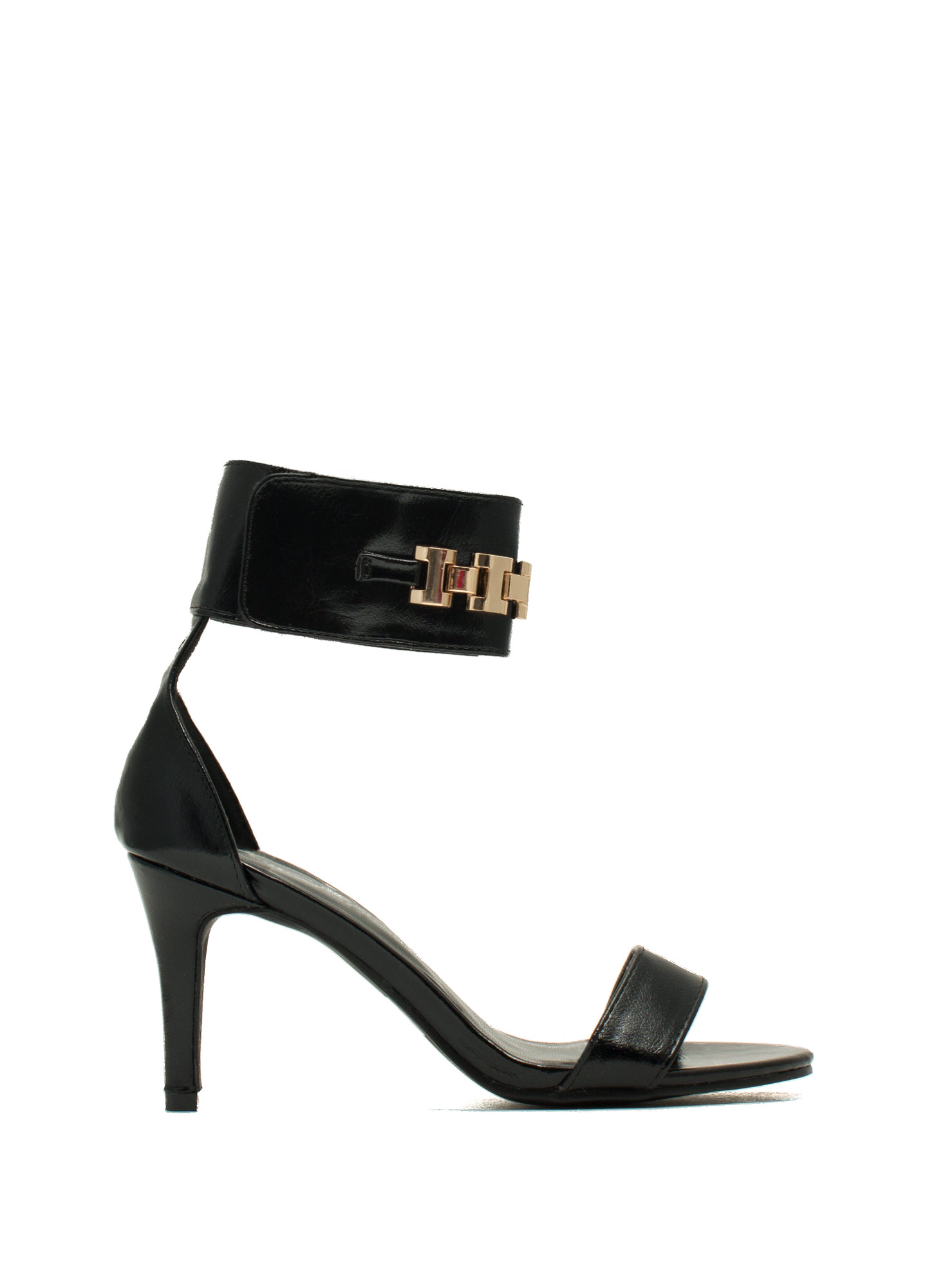 Show Your ID Chain Heels BLACK