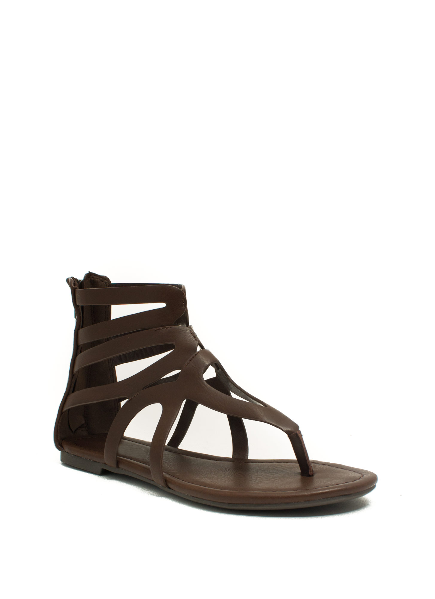 Tear It Up Gladiator Sandals BROWN