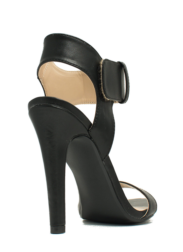 Minimal Cuff Single-Sole Heels BLACK