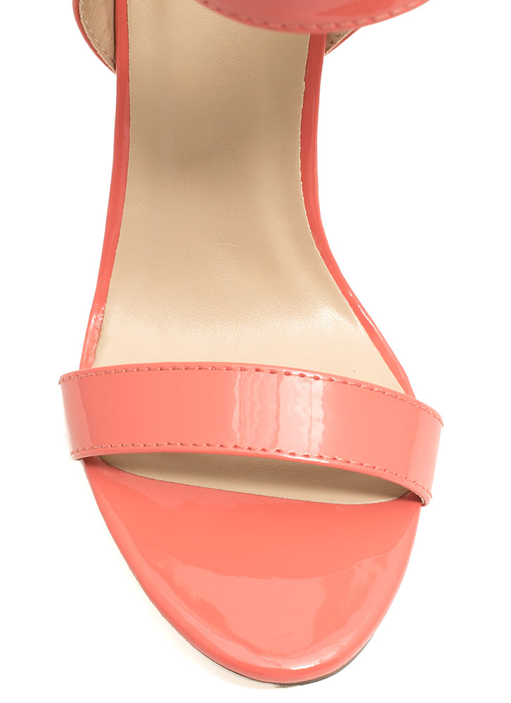 Minimal Cuff Single-Sole Heels SALMON
