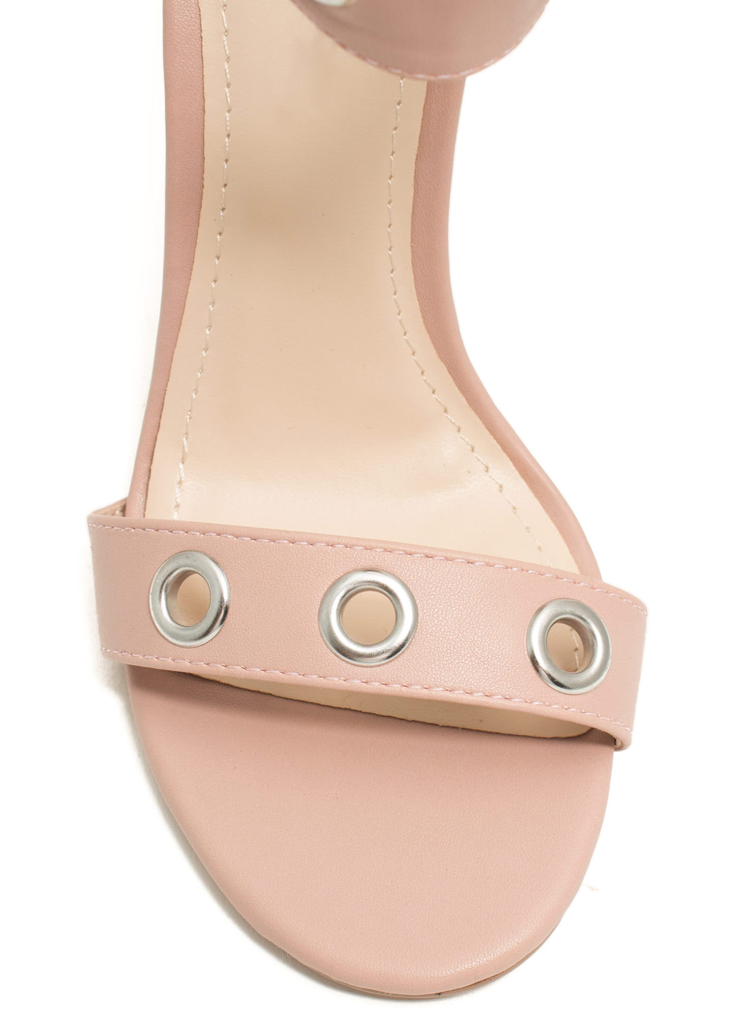 Single-Sole Grommet Heels ROSE