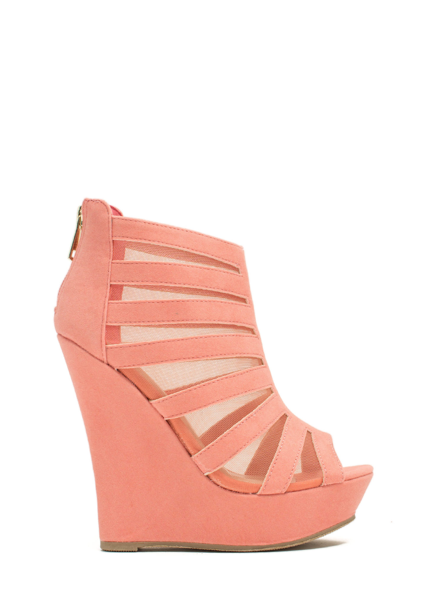 Mesh Inset Laddered Wedges MELON