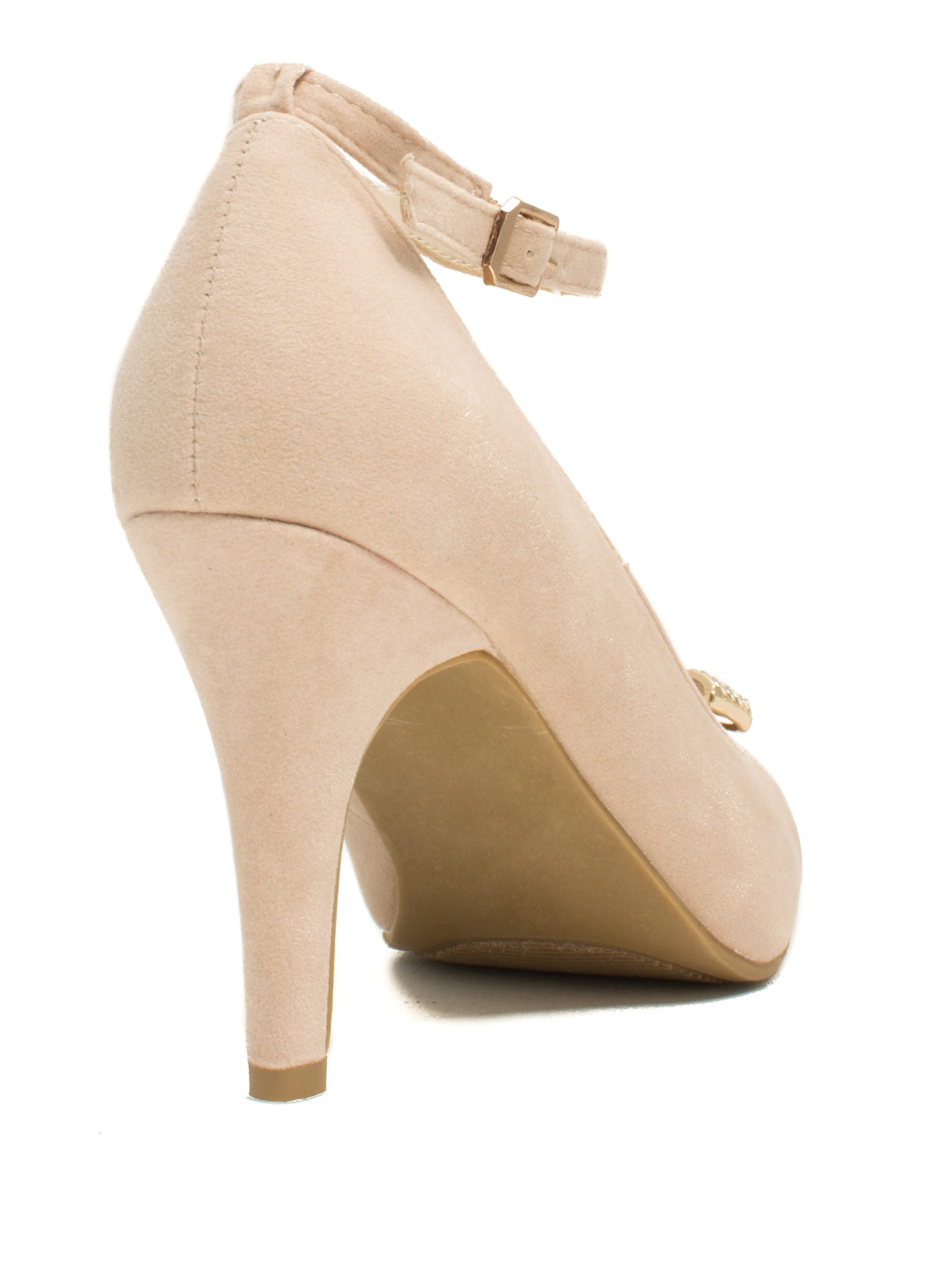 Reap What You Bow Stiletto Heels NUDE