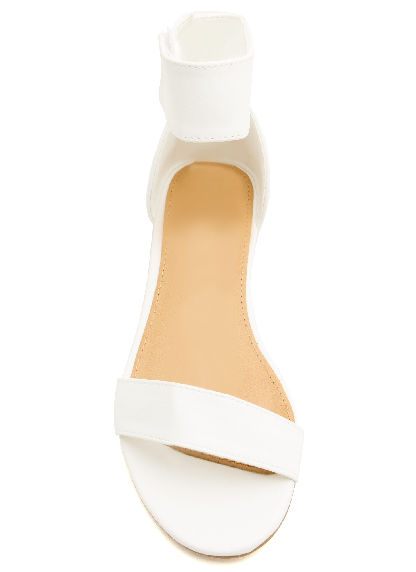 Ready To Mingle Single-Strap Sandals WHITE