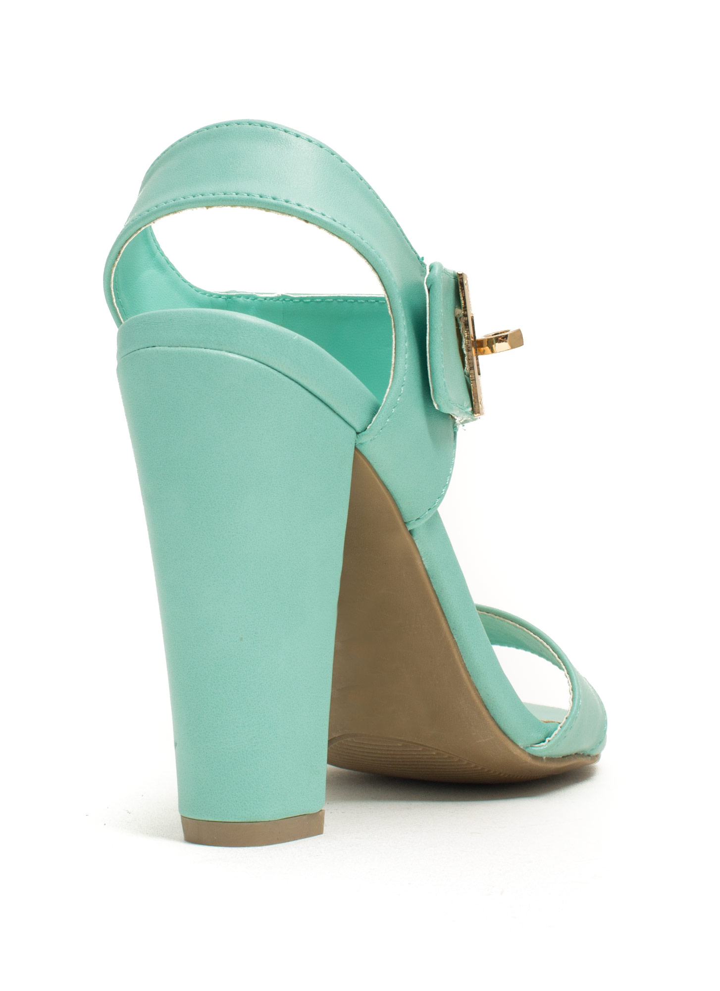 Chunky Twist Lock Heels MINT