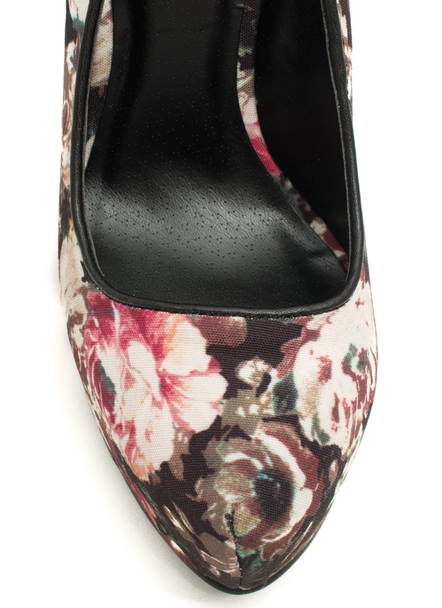 Make A Statement Printed Platform Heels BLACKMULTI