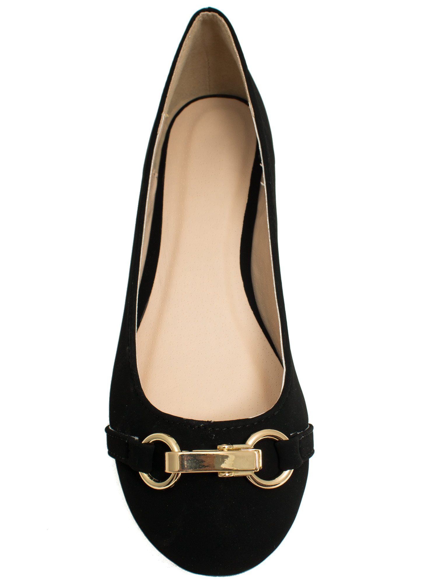 Nine To Five Faux Nubuck Flats BLACK