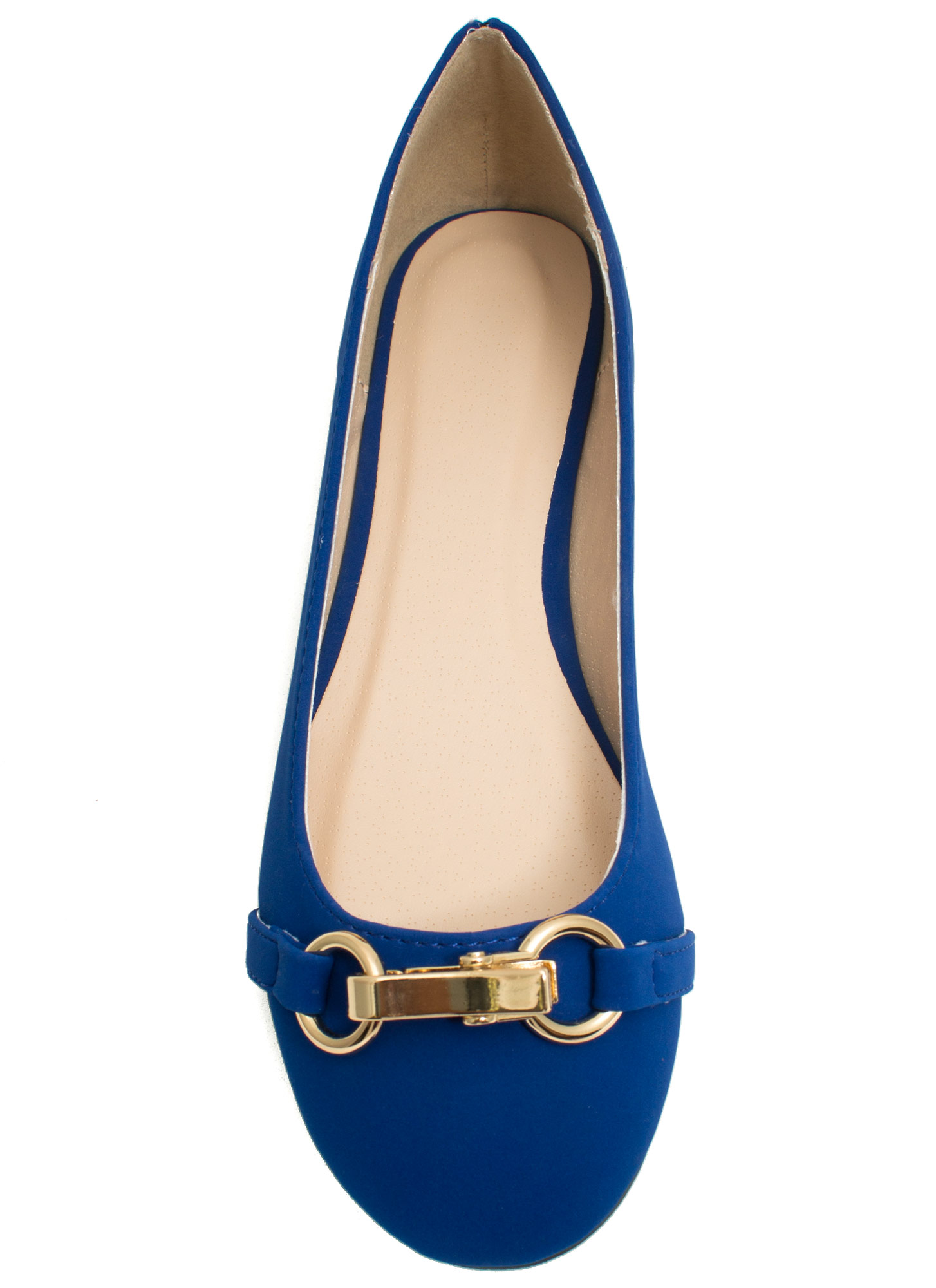 Nine To Five Faux Nubuck Flats COBALT