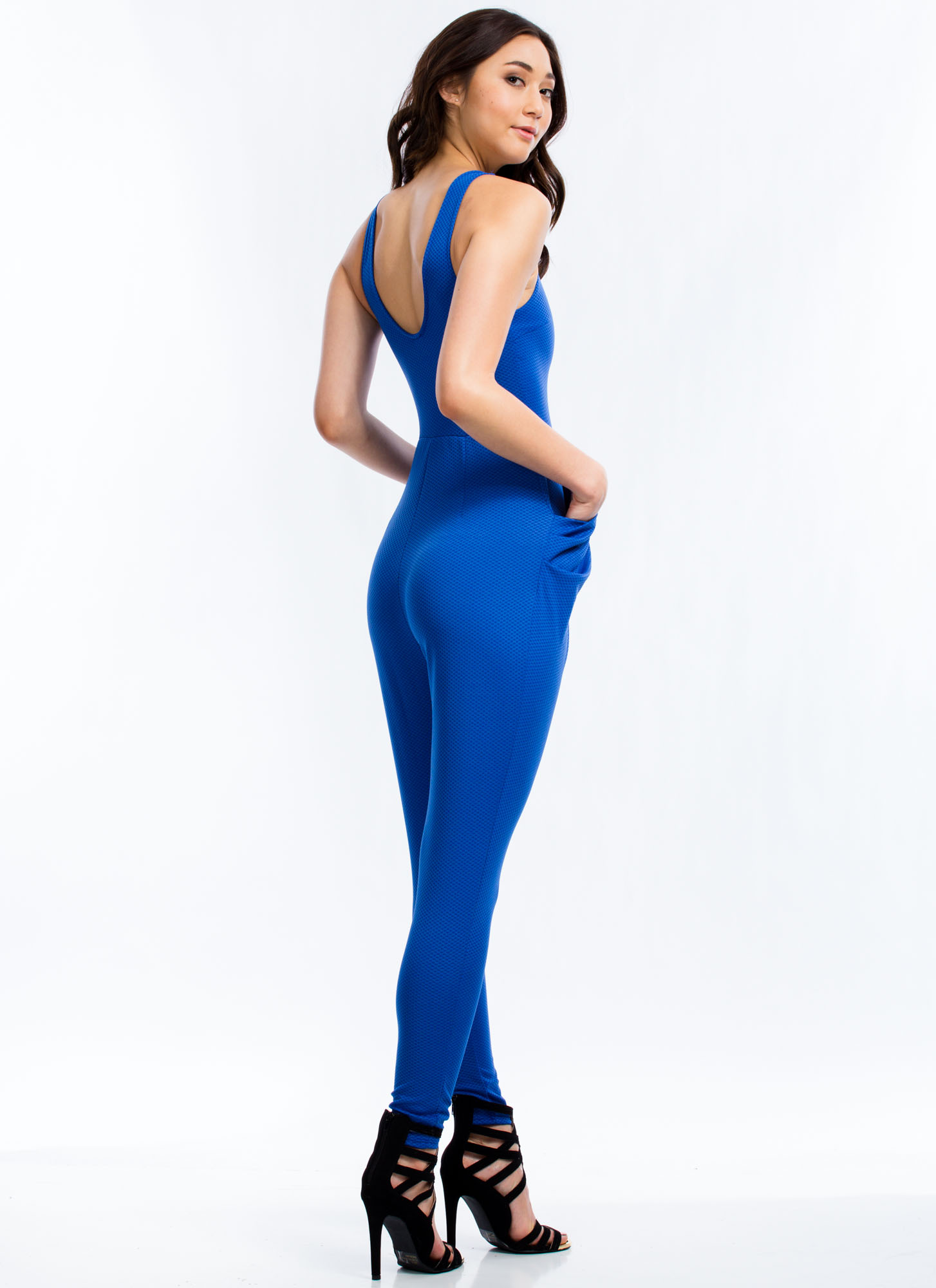 Take The Plunge Harem Jumpsuit ROYAL