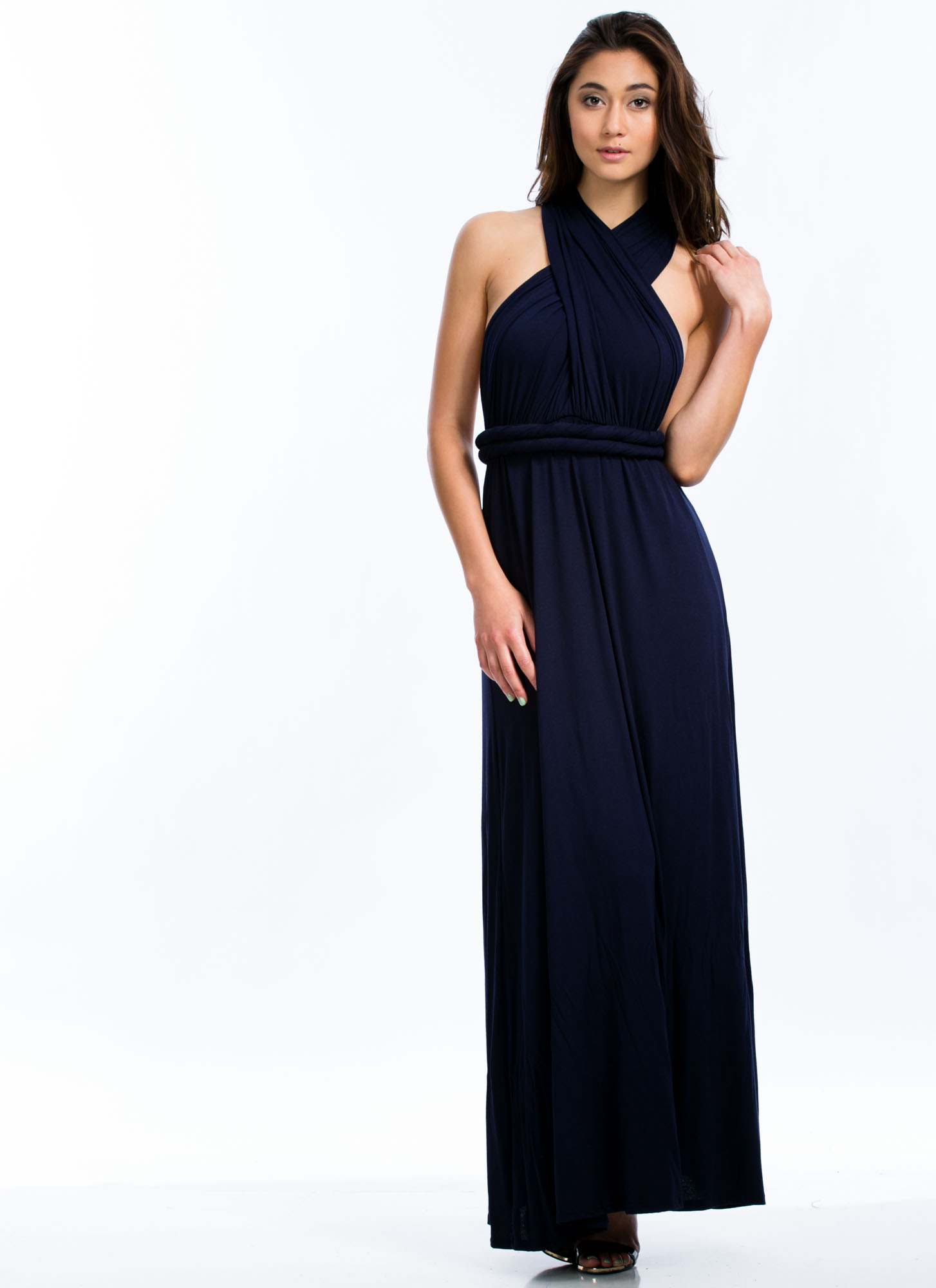 Convertible Goddess Maxi Dress NAVY