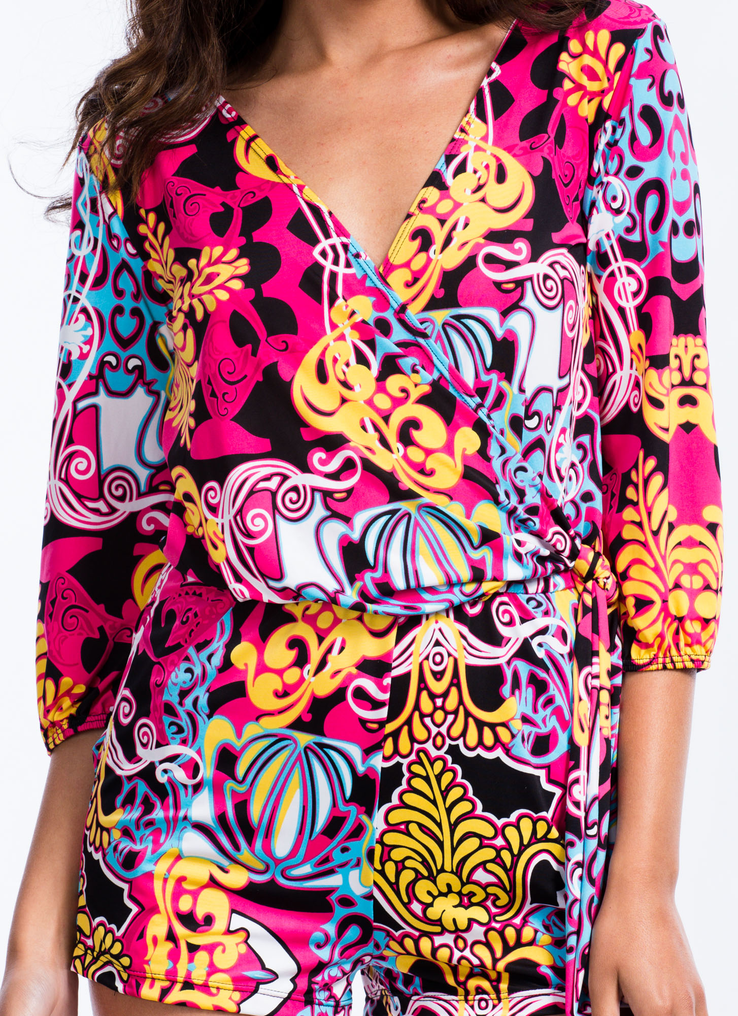 So Groovy Psychedelic Romper PINK