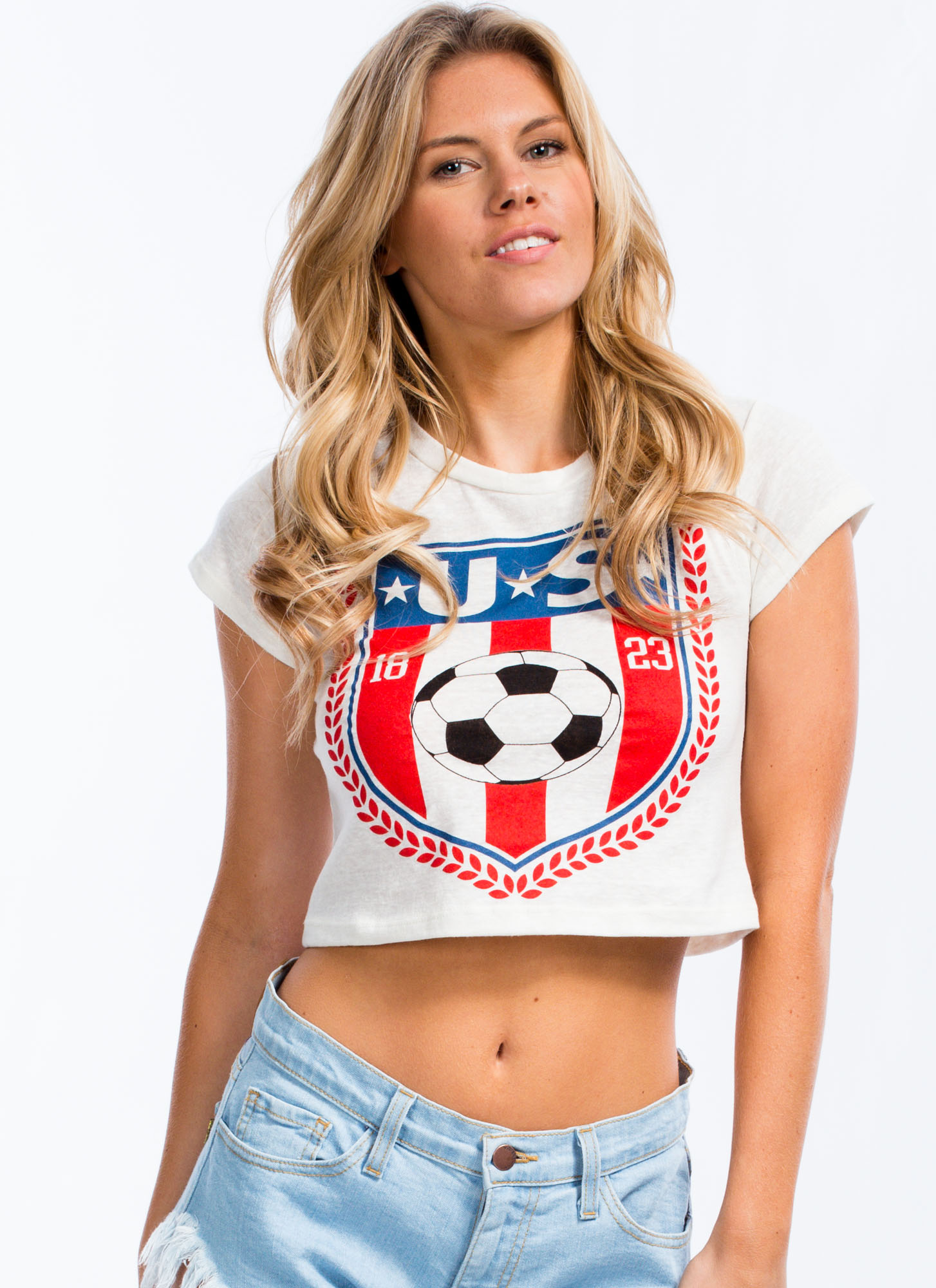 Hit Your Goal U.S. Soccer Emblem Tee IVORY