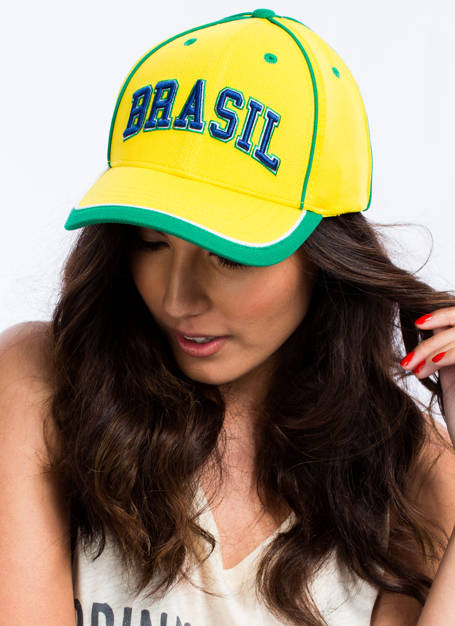 International Country Snapback Hat BRAZIL
