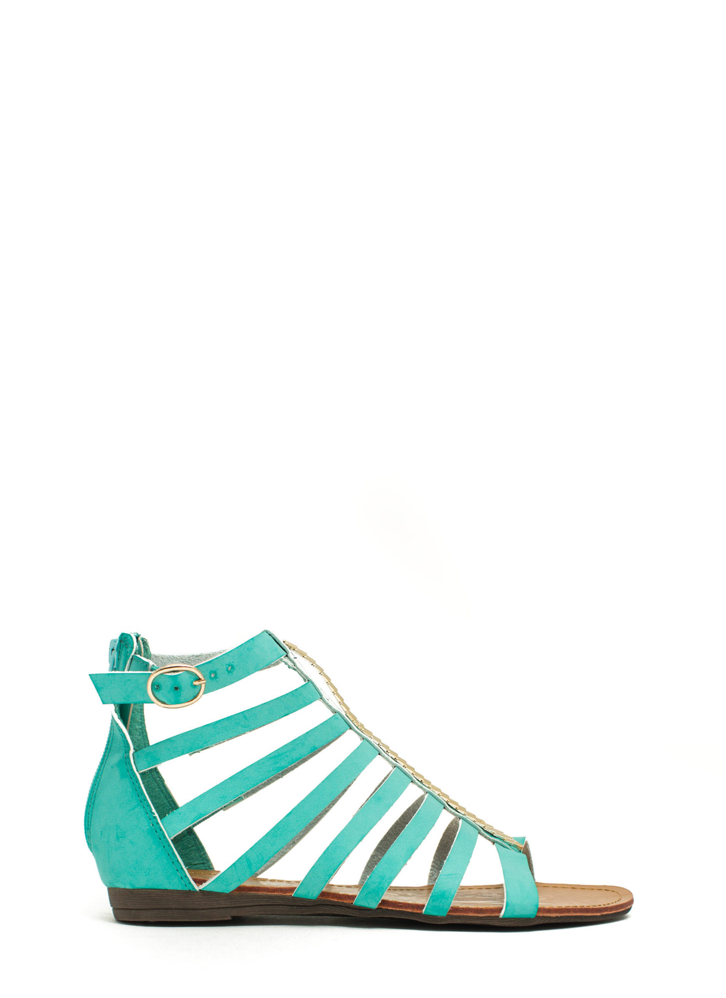 Metallic Touch Gladiator Sandals MINT