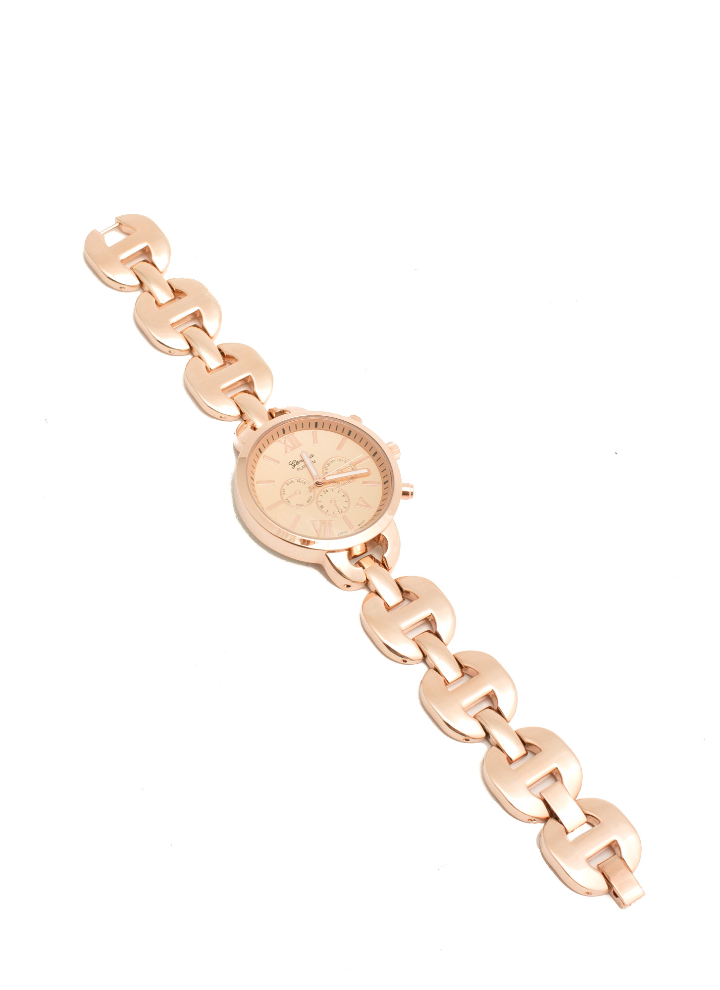 Round H-Link Shiny Boyfriend Watch ROSEGOLD