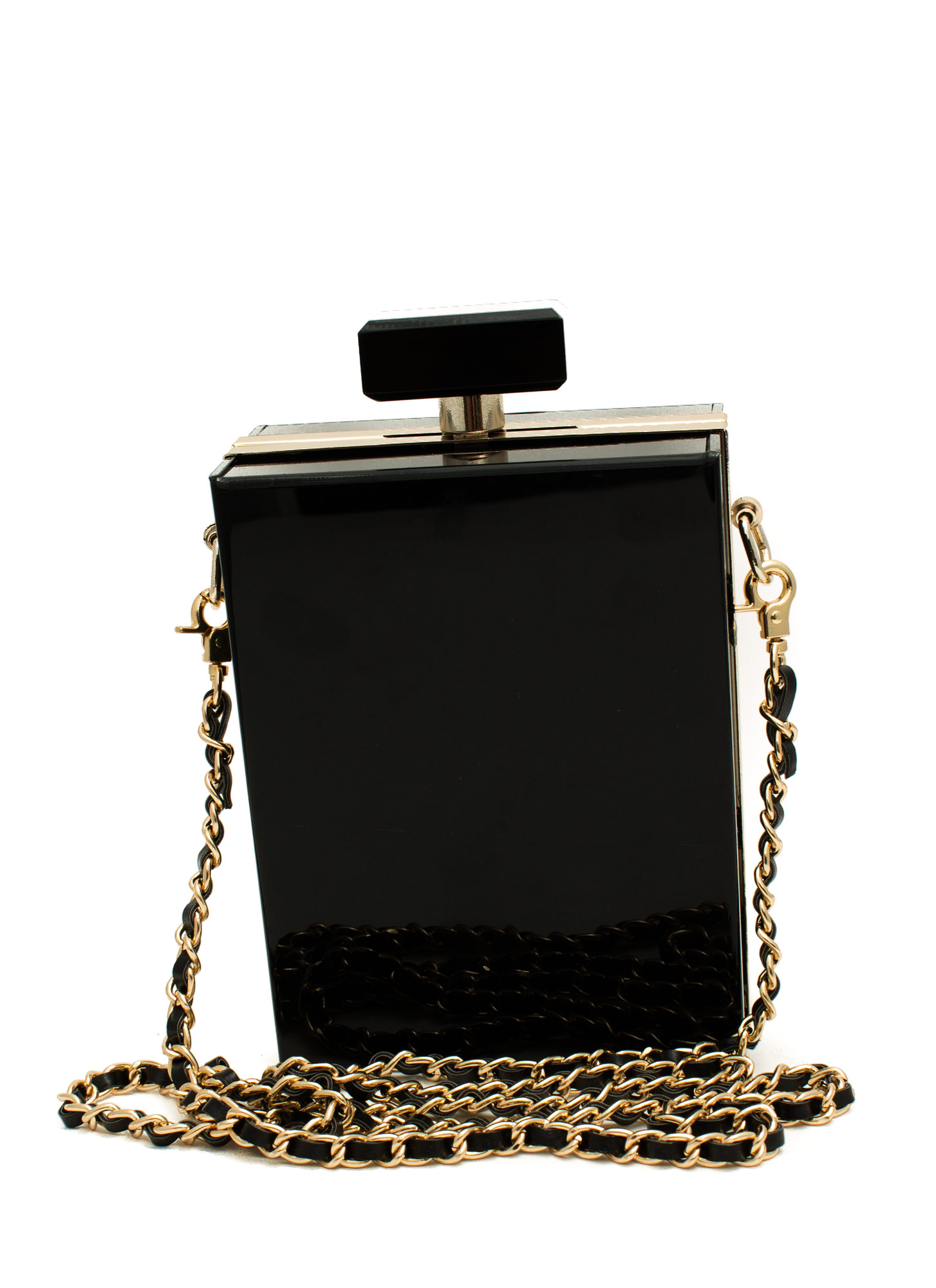 Perfume Bottle Clutch BLACKGOLD