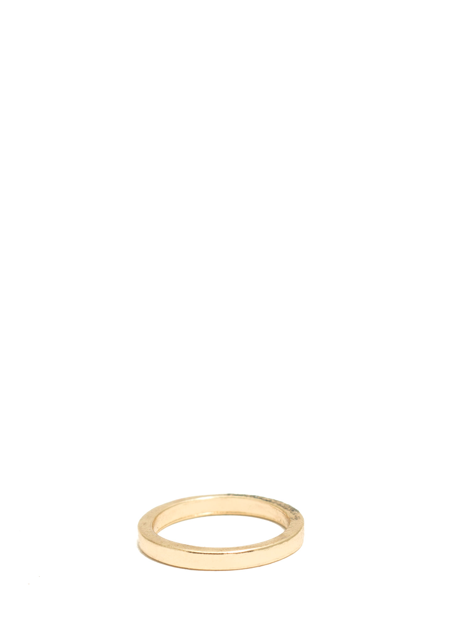 Plain And Simple Shiny Midi Ring GOLD