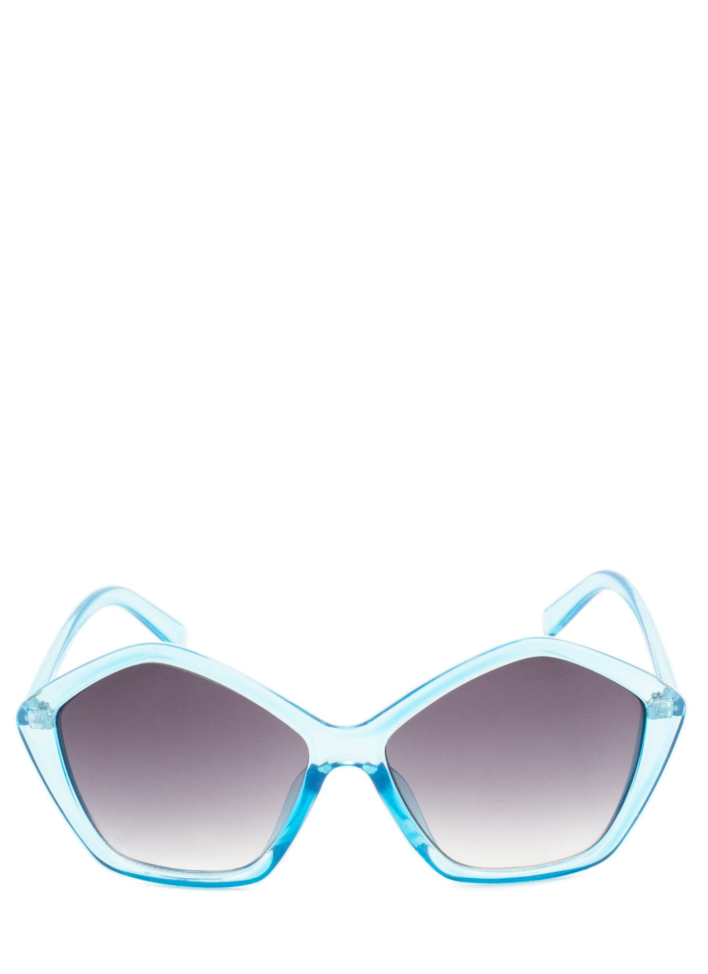 Pentagon Resin Sunglasses BLUE