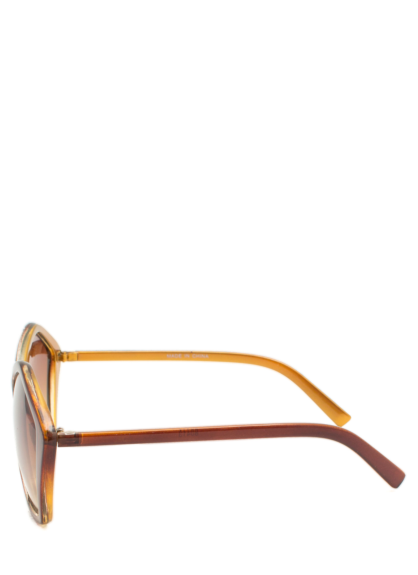 Pentagon Resin Sunglasses LTBROWN