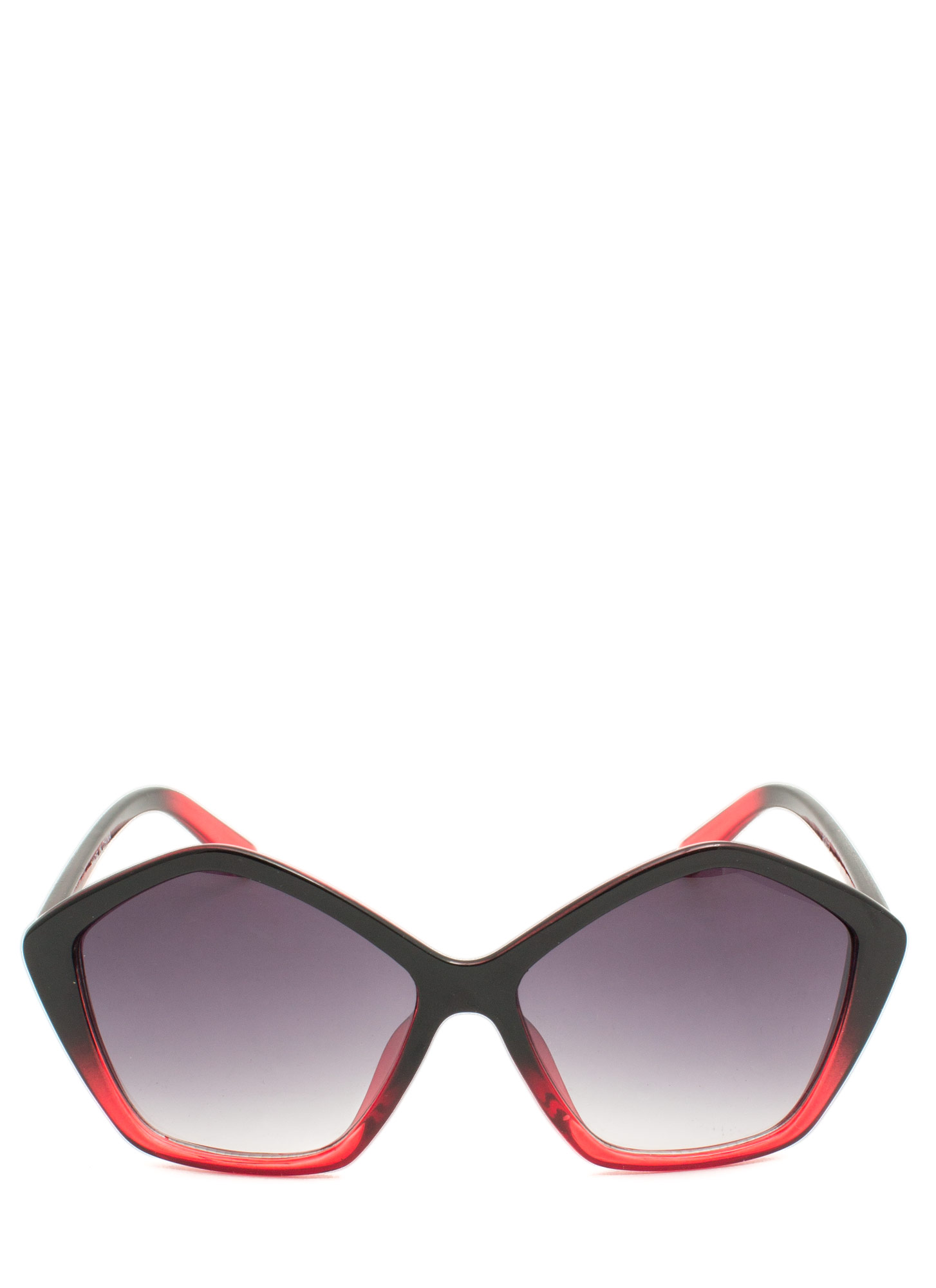 Pentagon Resin Sunglasses REDBLACK