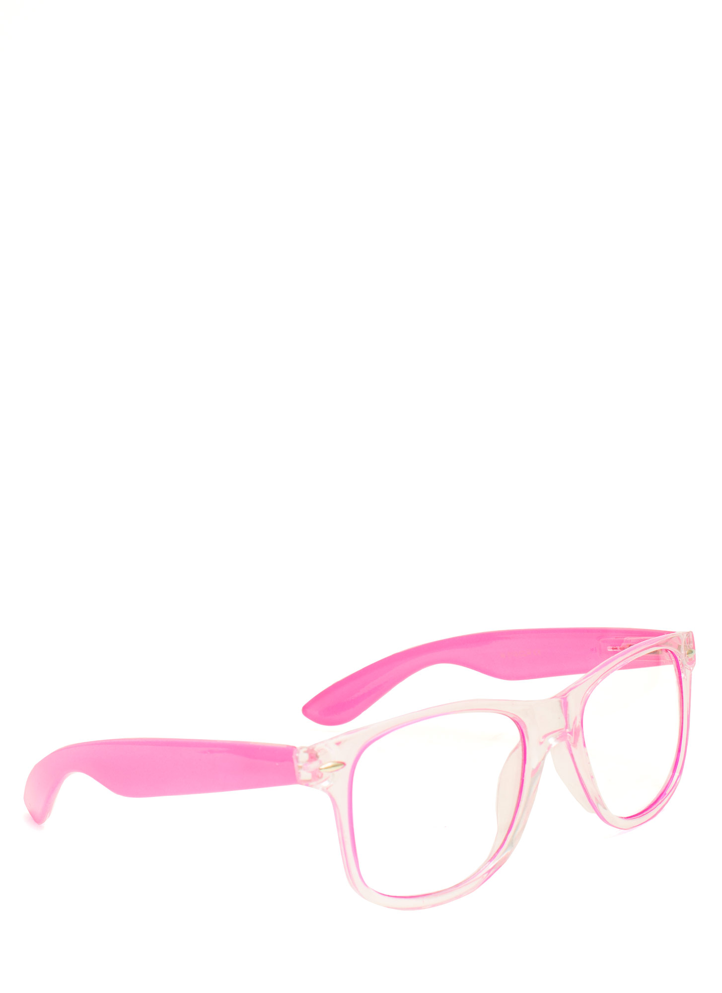 Neon N Clear Glasses PINK