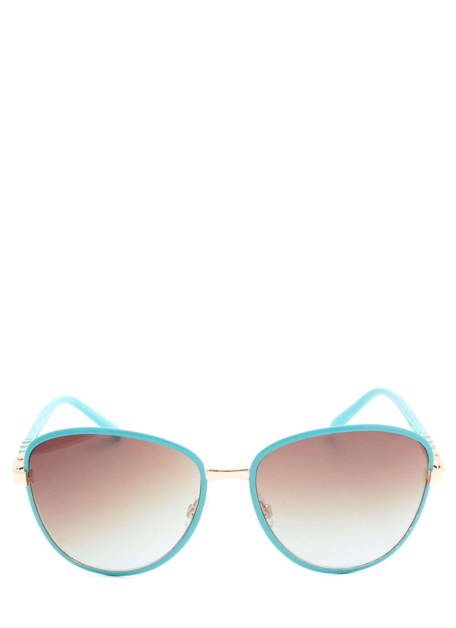 Touch Of Metallic Sunglasses  TURQUOISE